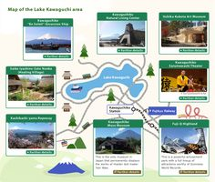 Map of the Lake Kawaguchi area