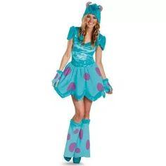 disfraz de sulley de monsters university para damas, adultos