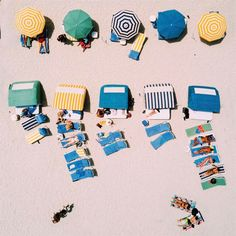 Beachscapes of Miami: Minimalist and Colorful Drone Photography by Luis Aguilera #inspiration #photography