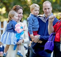 Princess Charlotte, Duchess Catherine, Prince George and Prince William