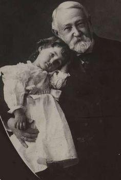 President Benjamin Harrison and his grandaughter