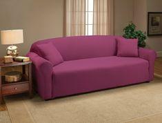 stretch husse sofa rosa