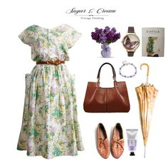 A green flower print summer Frock Stay naturally pastel in a green flower print summer Frock!