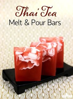 Thai Tea Melt and Pour Bars Tutorial - Soap Queen Thai Tea Melt and Pour Bars Tutorial<br> These Thai Tea Melt and Pour Bars feature a gorgeous swirl reminiscent of freshly poured cream. Soap Melt And Pour, Soap Tutorial, Thai Tea, Glycerin, Homemade Soap Recipes, Diy Bar, Shampoo Bar, Handmade Soaps, Diy Soaps