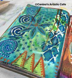 {Words of Me Project}: Week Three Art Journaling Love: Meet Sherry Canino; Feb 2017 #artjournalinglove #sherrycanino #caninosartisticcafe #artjournal #journalpage #mixedmedia #wordsofmeproject