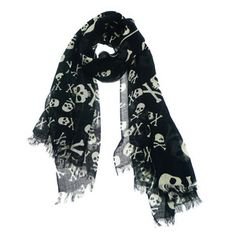 Skulli Scarf Black White now featured on Fab.