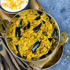 Spicytamarind - Vangi Bath   Eggplant Rice