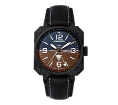 Junkers Horizon Pilot Watch features a freely adjustable second time zone (or GMT hand) in addition to the standard hand. White SuperLuminova is used to treat the hands and indices and it has a Swiss Ronda quartz movement. Ronda, Vintage Airplanes, Watches For Men, Men's Watches, Wrist Watches, Stainless Steel Case, Two By Two, Black Leather, Quartz