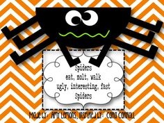 Spider poem and craftivity :: Step into 2nd Grade with Mrs. Lemons: Fallin' into Fall Fun :)