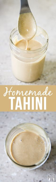 Homemade Tahini - this homemade tahini is only 2 ingredients and only takes about 8 minutes to make and its perfect for use in any recipes, especially homemade hummus!