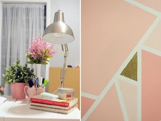 Kaelah Bee : Office Makeover - Geometric Glitter Wall DIY by kbeeblog, via Flickr