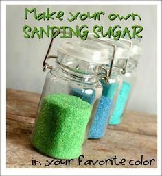 Make your own sanding sugar and get the perfect color for your theme