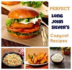 Leave Long John Silver's Behind: New Copycat Recipes!  Enjoy your crispy fishy favorites with this Long John Silver's recipe collection! We include the secret recipes for the best hush puppies, fish and chips, fried shrimp and filet sandwiches.