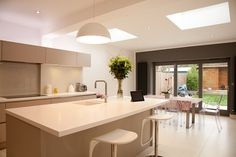 A spacious light modern Kitchen Extension built in Hampton