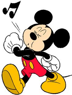 Mickey Minnie Mouse on whistling cartoon character