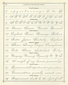 Our School House: Spencerian Penmanship