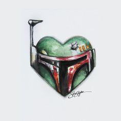 Boba Fett Star Wars Heart by samskyler.