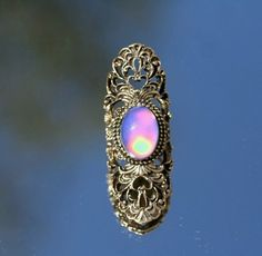 Vintage Fleur-Di-Lis Mood Ring Color Changing Mood Stone Rainbow Colors Quality Ring Vintage Mood Stone on Etsy, $20.00