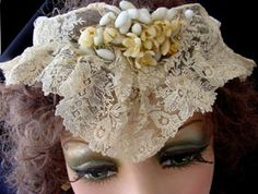 Vintage lace wedding veils for the bride and antique Irish crochet lace clothing, gift ideas and fashion clothing antique hand lace vintage lace shawls