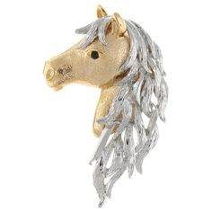 Brooches Store Silver Plated and Gold Plated Horse Head Brooch