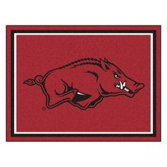 Arkansas Razorbacks 8x10 Plush Area Rug