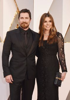 Pin for Later: These Celebrity Couples Heated Up the Red Carpet at the Oscars Christian Bale and Sibi Blazic