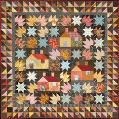 Welcome Home Quilt - Pattern by Alex Anderson for JWD Publishing. Get an authgraphed pattern via link on her websiste. I never grown tired of seeing homes on a quilt.