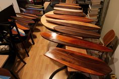 oiling lots of #wood #skateboards