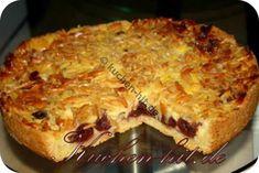 Rezept für eine einfachen Kirschkuchen mit Pudding. Tolle Anleitung mit Fotos zum Nachbacken.