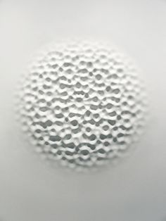 Wallvave vibration (anatomy of a diagram). Loris Cecchini. 2012. Polyester, resin, paint.