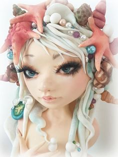 - cake by Cristina Making Fondant, Mermaid Cakes, Cupcake Cookies, Cupcakes, Sugar Paste, Character Modeling, Cake Creations, Little People, Cake Toppers