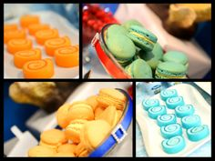 Under the Sea with the Octonauts Birthday Party Ideas | Love the colour themed macarons.