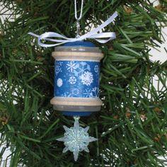Vintage Wooden Spool Snowflake Christmas Ornament by CarolsThreads, $8.00