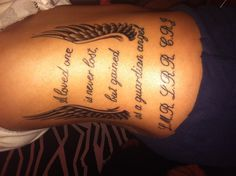 My first ever tattoo in honor of 3 of my grandparents who tragically passed away.
