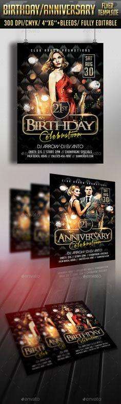 Deluxe Birthday Flyer Flyer template, Birthdays and Template - birthday flyer template