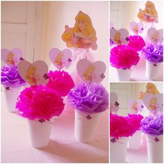 concepto plum decoracin para fiestas en uruguay centro de mesa infantil princesa