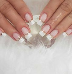 "The most stunning wedding nail art designs for a real ""wow"" - Wedding Nail Designs for Brides, bridal nails nails bride,wedding nails with glitter, - Wedding Nails For Bride, Bride Nails, Wedding Nails Design, Wedding Makeup, Wow Nails, Cute Nails, Pretty Nail Art, Perfect Nails, Glitter Nails"