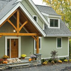 Green Colored House Design Ideas, Pictures, Remodel, and Decor