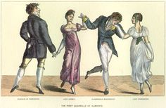Regency era public balls or public assemblies - In the Regency era, an active social season was not limited to London. Most country towns had a formal social season during the autumn and winter months, often beginning in early to mid-October.