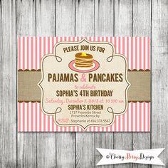 Pancakes Amp Pajamas Favor Tag Square Or Circle Favors