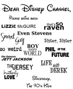 I want my old disney channel back please!