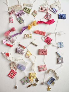 One Bunting Away: How to make a scraps of fabrics garland