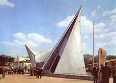 Pavillon Philips, exposition internationale de 1958, Brussels, Belgium, 1958