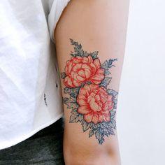 Old Hong Kong Temporary Tattoo Vintage Tiger Tattoo Green Dragon Tattoo Chinese Tattoo Large Asian Tattoos Japanese Tattoo Stickers Wave Art - Fun tattoo Old Hong Kong Gift Vintage Dragon Tirger Tattoo Peony Flower Tattoo Sweet Tattoos Candies - Form Tattoo, Tattoo Son, Shape Tattoo, Wrist Tattoo, Tattoo Thigh, Vintage Blume Tattoo, Vintage Flower Tattoo, Tattoo Vintage, Peony Flower Tattoos