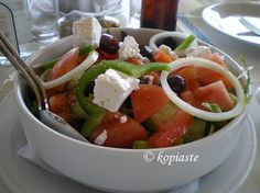 Blog post at Kopiaste..to Greek Hospitality : Greek salad, which in Greek is called Horiatiki salad and means village or peasant salad is a  common component of a Greek meal.  In C[..]