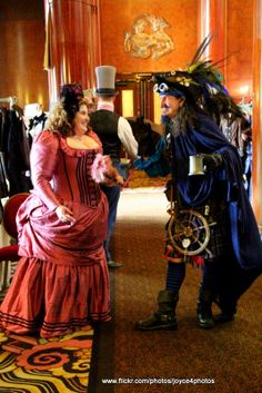 Thee Blue Beard visits with the Steampunk guests on board the Queen Mary. http://www.theebluebeard.com/