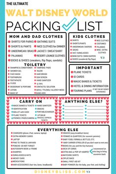 FREE Printable Disney World Packing List