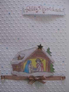 """Traditional """"Belen"""" Greetings card Tarjeta de saludo navideño :Pesebre tradicional"""
