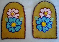 """Moccasin """"Vamps"""" – Page 6 – Walking With Our Sisters Bead Embroidery Patterns, Seed Bead Patterns, Beaded Embroidery, Beading Patterns, Indian Beadwork, Native Beadwork, Native American Beadwork, Powwow Regalia, Native American Moccasins"""