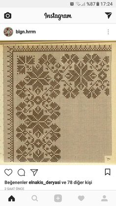 Crochet Bedspread, Hama Beads, Projects To Try, Cross Stitch, Embroidery, Patterns, Instagram, Craft, Needlepoint